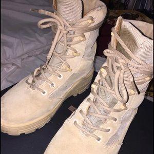 YEEZY season 4 sand combat boots